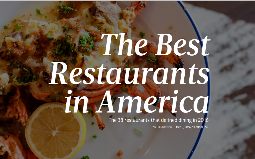 Eater – The Best Restaurants in America